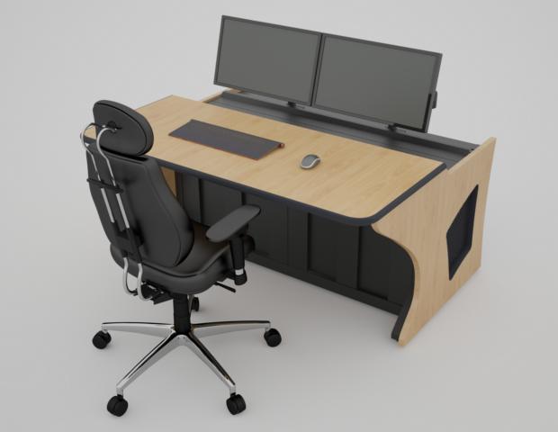 Фотореалистичный эскиз диспетчерской мебели